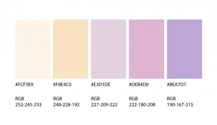 paleta de color pastel
